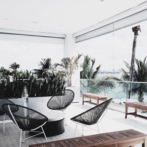#lincolnblacklabel house + I am obsessed with Acapulco chairs