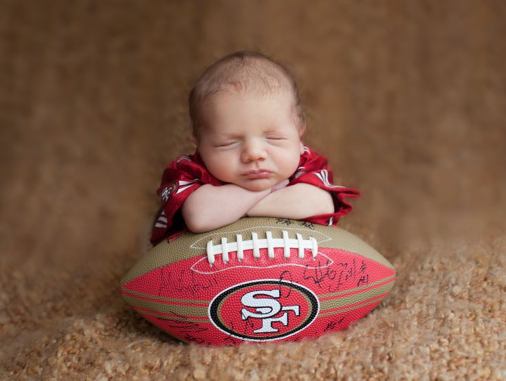 My son's newborn photo session.  Credit: Willow Baby Photography  #sanfrancisco #49ers #andersroland