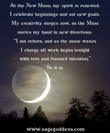 New Moon Blessings from Sage Goddess etsy.com/shop/thesagegoddess - Pinned by The Mystic's Emporium on Etsy