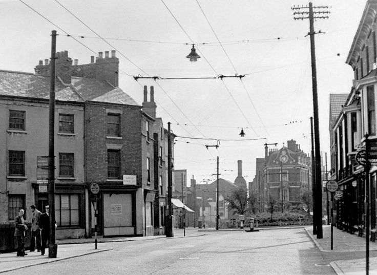 Ilkeston Road and Canning Circus, Nottingham, about 1956.