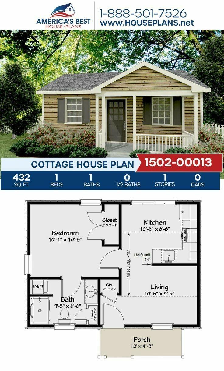 1dorm Para Estudio Guest House Plans Cottage Plan House Plans
