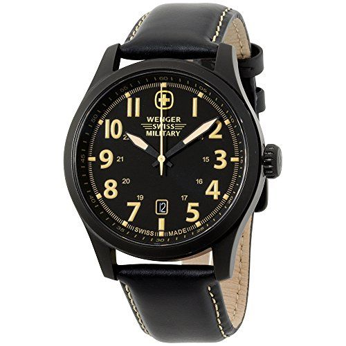 Wenger Black Dial Leather Strap Men's Watch 79105 https://www.carrywatches.com/product/wenger-black-dial-leather-strap-mens-watch-79105/ Wenger Black Dial Leather Strap Men's Watch 79105  #wengerwatches Check more at https://www.carrywatches.com/product/wenger-black-dial-leather-strap-mens-watch-79105/