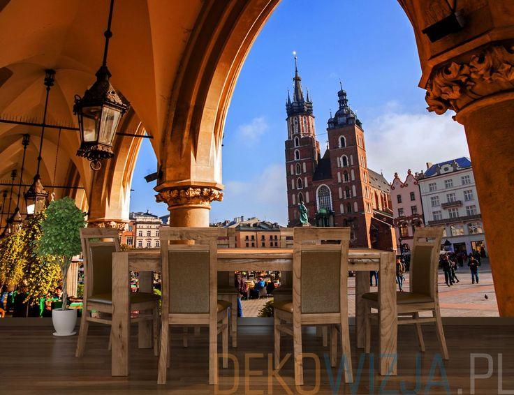 Fototapeta do jadalni z Krakowskim rynkiem