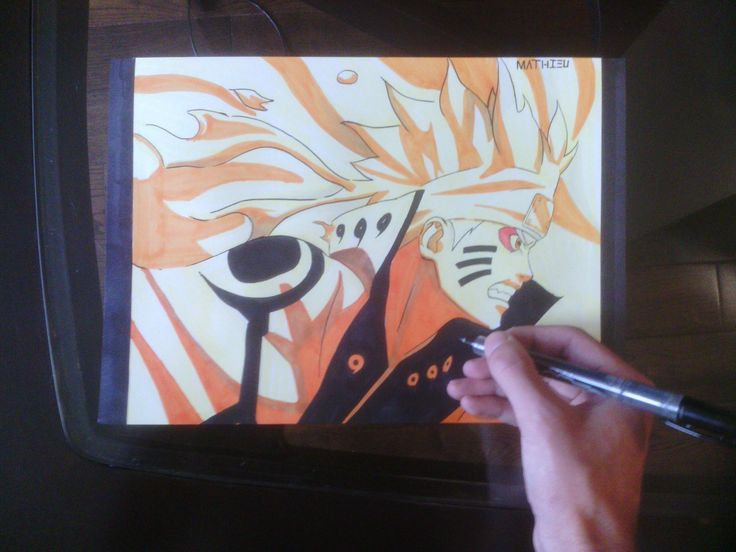 how to draw naruto sage mode step by step