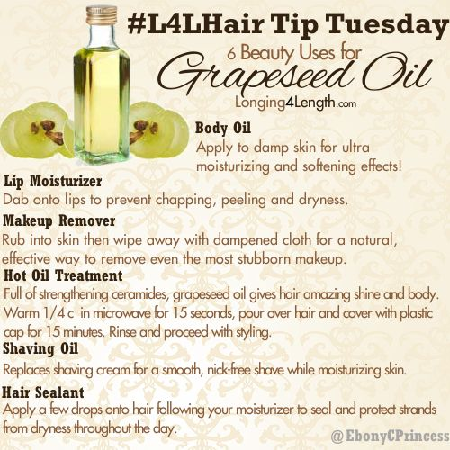 #L4LHair Tip Tuesday: Grapeseed Oil Uses