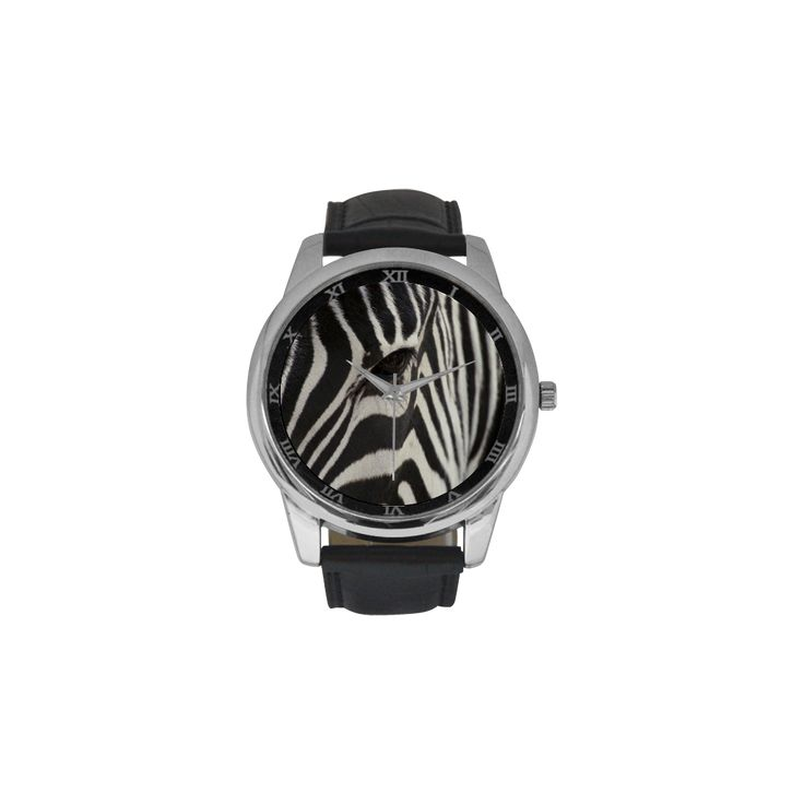 Zebra Men's Leather Strap Large Dial Watch. FREE Shipping. #artsadd #watches #zebra