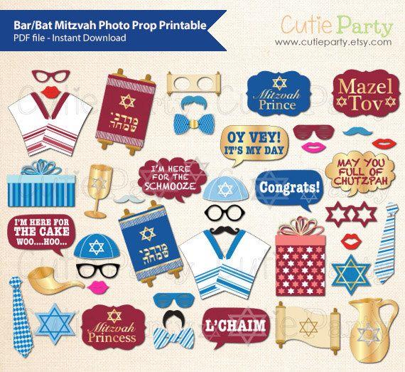 Bar Mitzvah Photo Prop, Bat Mitzvah Photo Booth Prop, Jewish Celebration Printable by Cutieparty on Etsy https://www.etsy.com/listing/230448166/bar-mitzvah-photo-prop-bat-mitzvah-photo