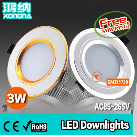 Free Shipping 3W LED Recessed Ceiling Lights SMD5730 LED + Driver AC85~265V Warm White/Cold White #Affiliate