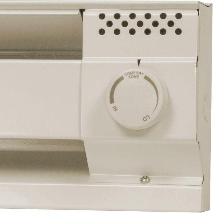 Cadet BTF1A Single Pole Baseboard Heater Thermostat - almond (Brown)