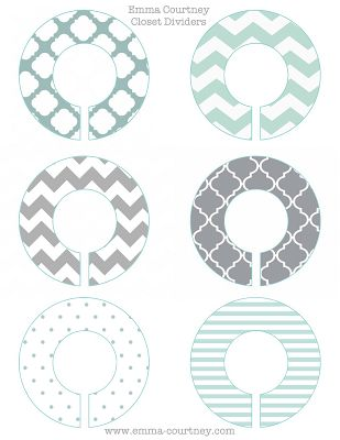 Emma Courtney: Closet Dividers Printable