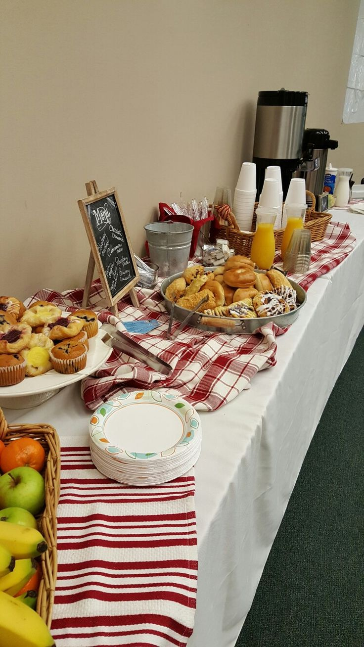 Office meeting. Catered continental breakfast.                                                                                                                                                     More