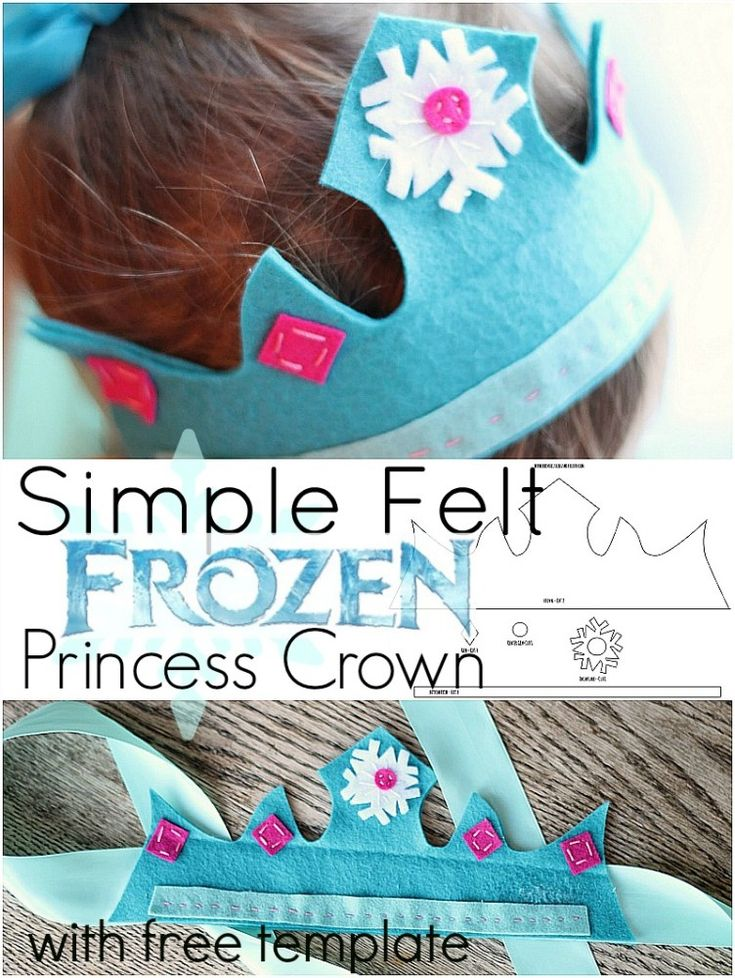 Do your children love Frozen? Make them this simple felt Frozen princess crown - perfect for dress up or anytime! Your little princess is sure to love it.