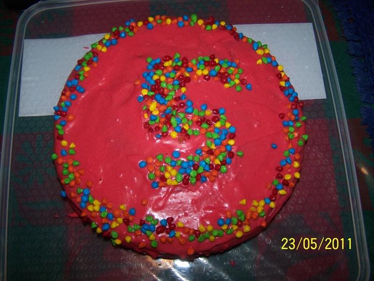 Round cake decorated