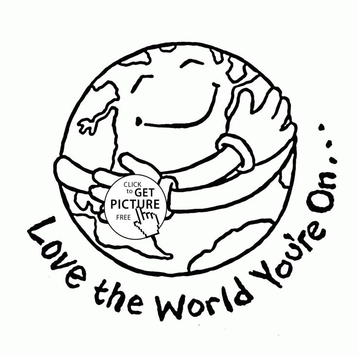 love earth day coloring pages - photo#5