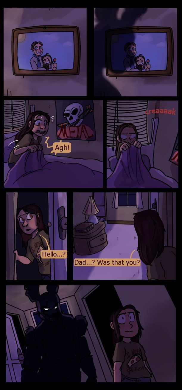 Springtrap And Deliah ( Page 1 ) By GraWolfQuinn