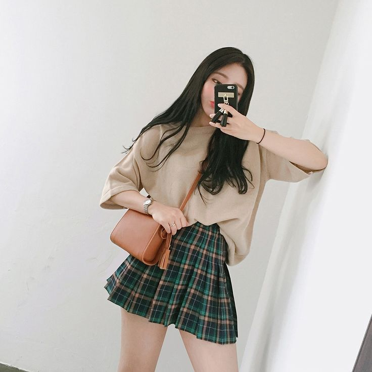 #korean, #fashion, #skirt