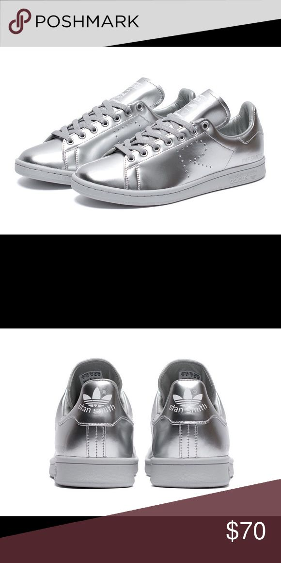 Silver Stan Smith Adidas Sneakers Silver Stan Smith Adidas Sneakers Adidas Shoes Sneakers