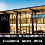 Auto Nejma recrute des Responsables SAV (Casablanca Tanger Oujda) - توظيف عدة مناصب