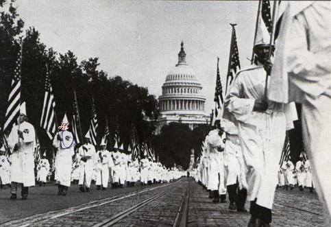 seeselfblack:    The Klu Klux Klan  Americas Favorite cherished Terroists   Hmmm  oh Yes thats Americas capitol (and the White House is up the street) in the background of her favorite Christian soldiers marching forth. If you wanna talk about Terroist and terroism in the world  well now ask your momma/daddy grand momma/daddy about how it was back In the day  they know allll about it (the RAPES lynchings beatings theft of property terrorizing etc)   Oh and it was these fools ancestors who…