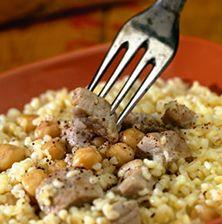 Παραδοσιακό ,εορταστικό φαγητό της Κω που φτιαχνόταν πάντοτε με χοντρό κομμένο σιτάρι και ρεβίθια. Στην υφή μοιάζει πολύ με το « κεσκέκι» της Σάμου με την διαφορά ότι αυτό δεν έχει ρεβίθια
