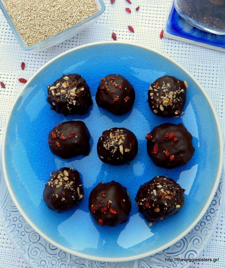Σοκολατένια τρουφάκια με κινόα