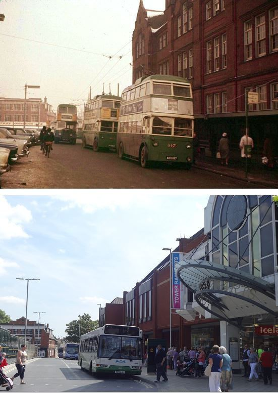 IPSWICH TOWER RAMPARTS BUS STATION.. c 1960 and 2014. | Flickr - Photo Sharing!