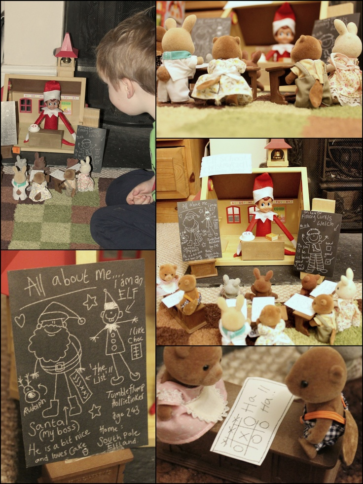 elf school details: Elf School, Christmas Elf, Holly Kringle, Shelf Ideas, School Details, Holiday Goodies