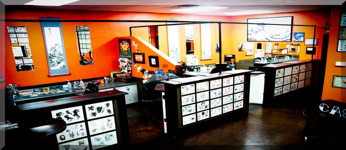 17 best images about good looking shops on pinterest for Tattoo shop design