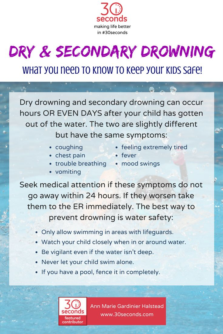 Dry and Secondary Drowning are rare, but can occur. Be vigilant when watching your kids at the pool and pay attention to these symptoms after you get home. Take them in if they don't improve within 24 hours. #watersafety #30seconds https://30seconds.com/health/tip/14130/Dry-Secondary-Drowning-What-You-Need-to-Know-to-Keep-Your-Kids-Safe