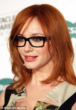 Christina Hendricks rocks her stylish specs!