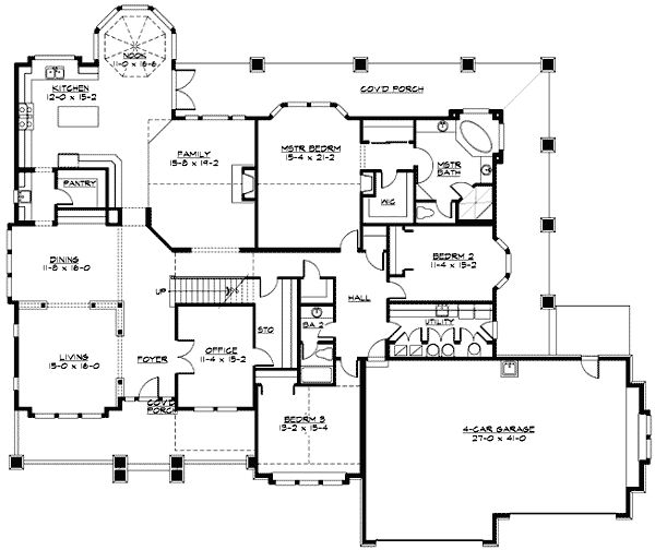 Plan 23320jd modern rambler with upstairs bonus room for Rambler home designs