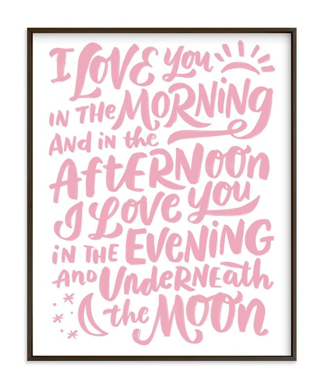 I Love You In The Morning Nursery Art