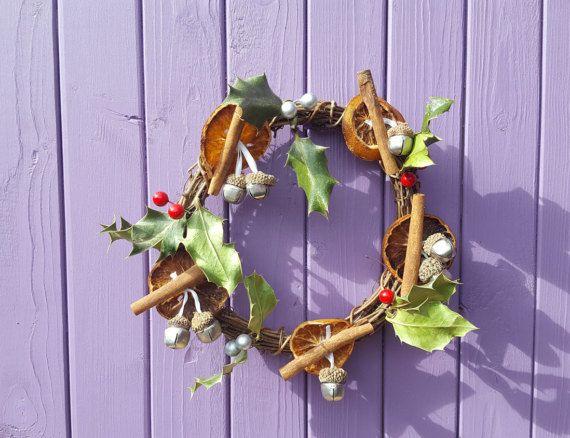 Yule Wreath Christmas Wreath Yuletide Door Hanger Festive