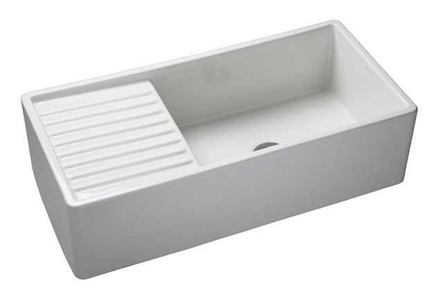 White Kitchen Sink Drainer
