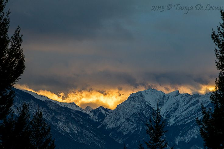 Sunrise over the Rockies ...  http://tanyadeleeuw.smugmug.com/Scenic/Rise-Set/Sun/Columbia-Valley-Sunrise/i-ZKdVFkH/A