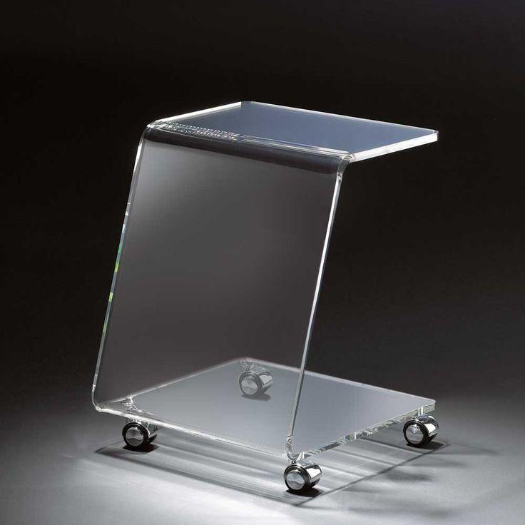 Glas Beistelltisch Mit Rollen Modern Jetzt Bestellen Unter Moebelladendirekt