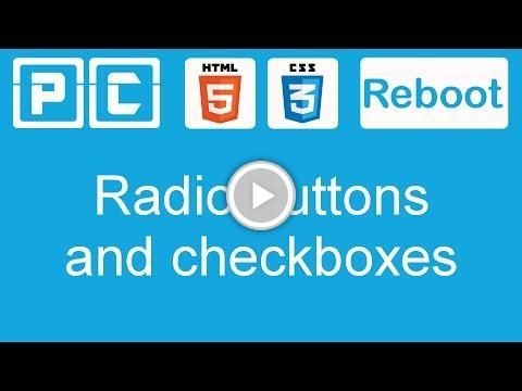 HTML5 and CSS3 beginners tutorial 47  - checkboxes and radio buttons