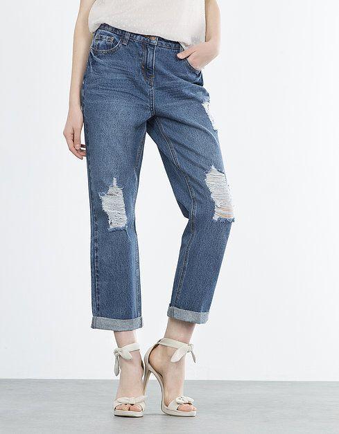 Jeans boyfriend rotos | BOYFRIEND | JEANS | SHOP ONLINE BLANCO.COM