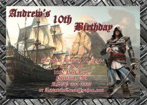 Assassin's Creed Birthday Invitation