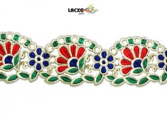 Style No. : 004256 This Embroidery Cutwork ( Embroidery Cutwork ) comes with Plain decoration widely used by Apparel & Clothing Industry Size in MM : 90.0000