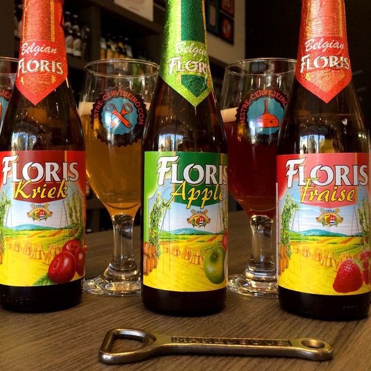 As cervejas frutadas da Floris: Kriek, Apple e Fraise #cerveja #degustacao #beer #tasting