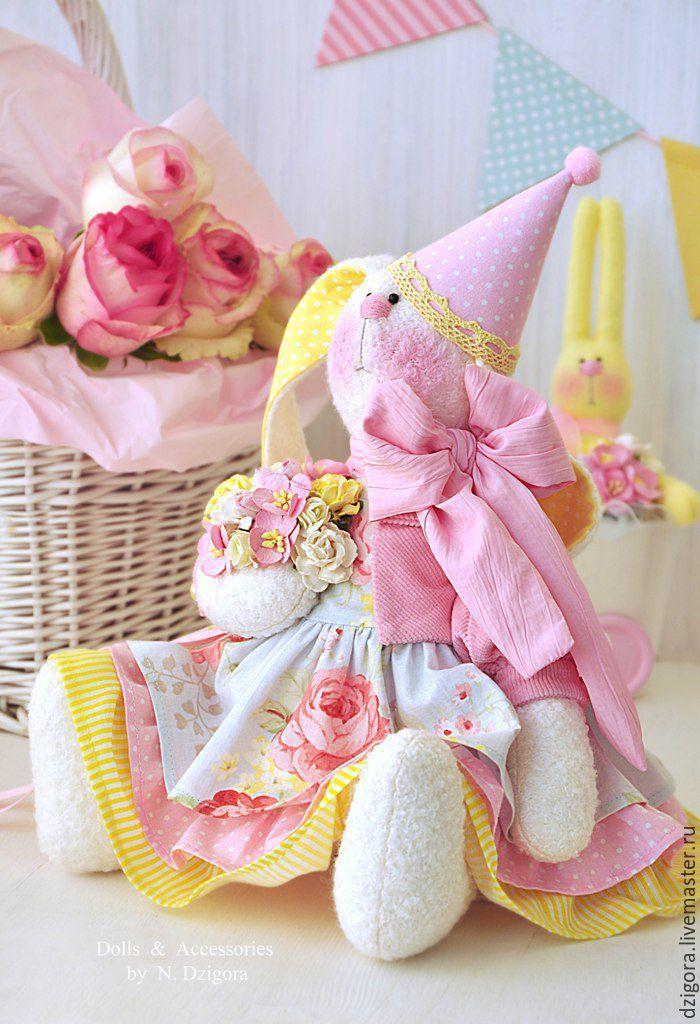 Купить Зайка текстильная Сладкий десерт - зайка, зайка игрушка, игрушка зайка, игрушка заяц