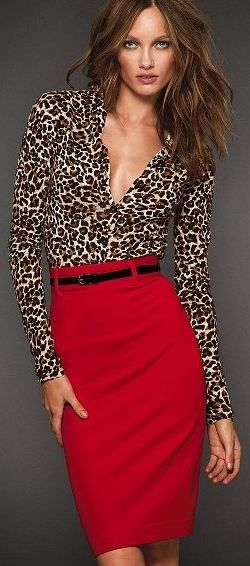 I like the bold color and print but would prefer not wear a plunging neckline and prefer pants
