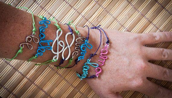Custom word bracelet handmade bracelet with by SilviaWithLove, €5.50