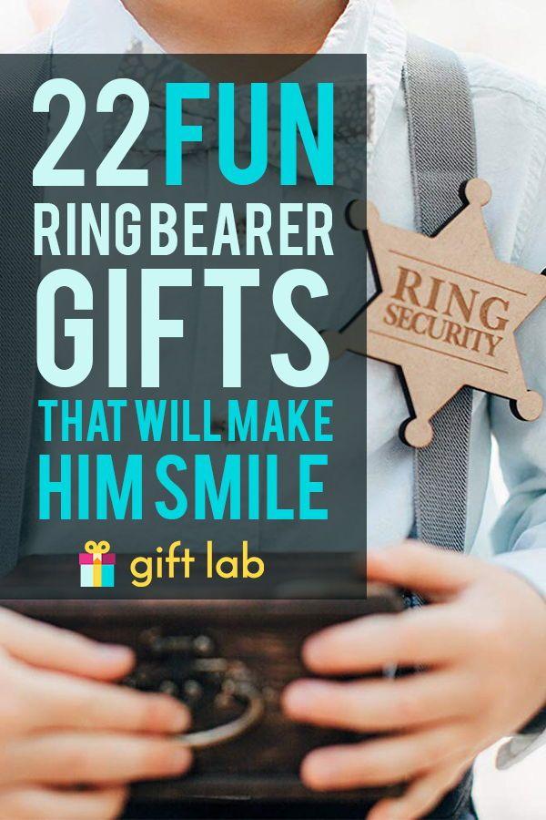22 Fun Ring Bearer Gifts That Will Make Him Smile Wedding