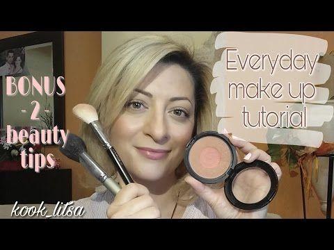 Καθημερινό μακιγιάζ | βασικά βήματα + 2 Tips | LITSA G. | Natural make u...