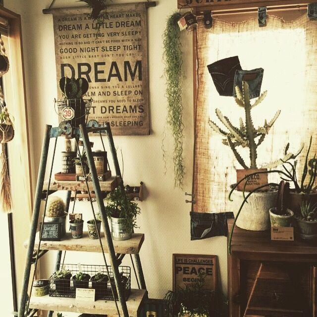 ノットアンティークス♡/グリーン♡/タペストリー♡/多肉植物♡/フェイク♡…などのインテリア実例 - 2015-03-03 16:34:05 | RoomClip(ルームクリップ)