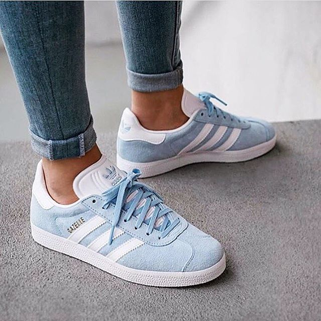 Gazelle Shoes Blue Womens   Adidas gazelle, Blue adidas