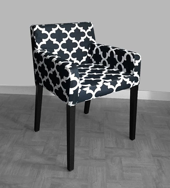 best ikea nils chair slipcover fynn black by on etsy salle housses de with housse pour chaise ikea. Black Bedroom Furniture Sets. Home Design Ideas