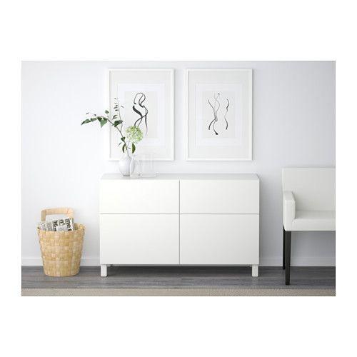 Downstairs Airport Chairs - BESTÅ Storage combination w doors/drawers - Lappviken white, drawer runner, soft-closing - IKEA
